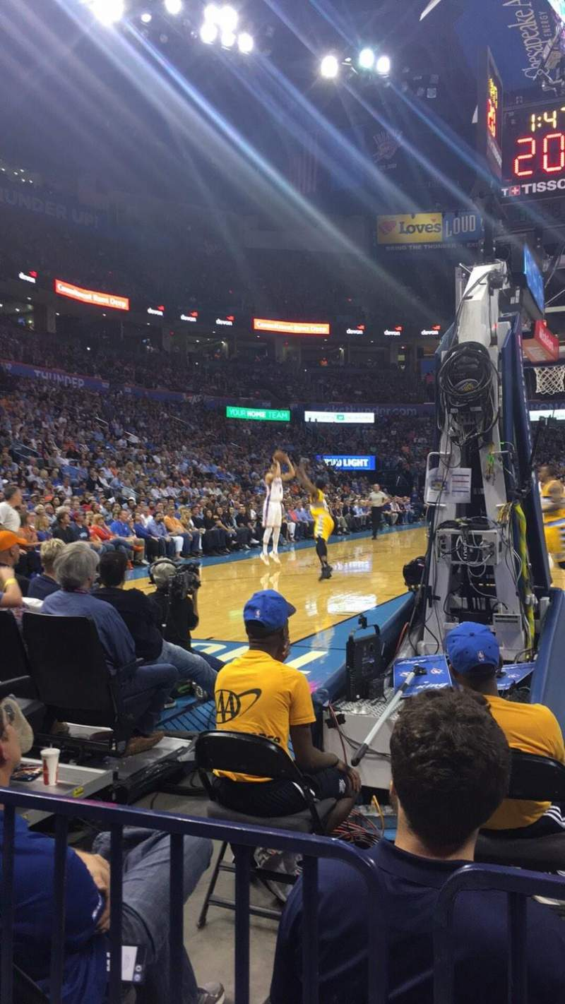 Photos of the Oklahoma City Thunder at Chesapeake Energy Arena