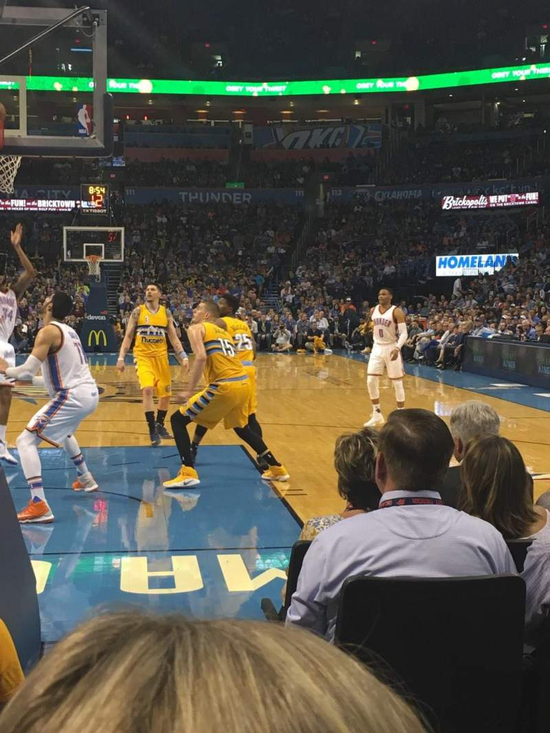 Seating view for Chesapeake Energy Arena Section 120 Row BB Seat 17