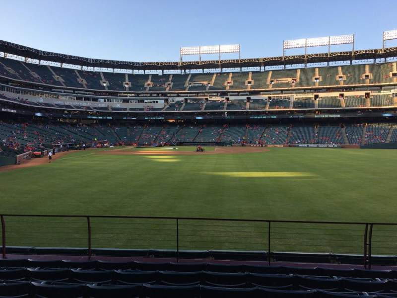 Seating view for Globe Life Park in Arlington Section 46 Row 7 Seat 8