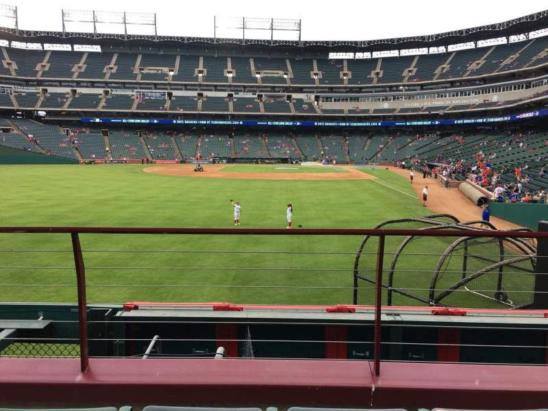 Seating view for Globe Life Park in Arlington Section 7 Row 3 Seat 6