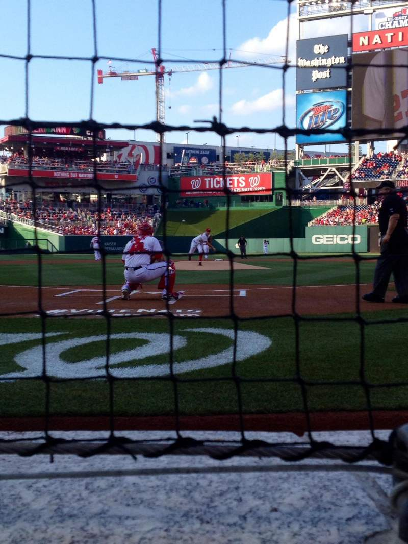 Seating view for Nationals Park Section Presidents Club C Row A Seat 3