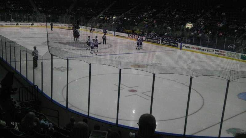 Seating view for Germain Arena Section 108 Row 10 Seat 5