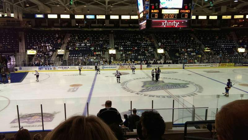 Seating view for Germain Arena Section 112 Row 12 Seat 3