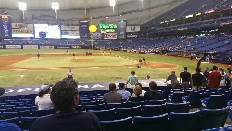 Seating view for Tropicana Field Section 113 Row u Seat 5