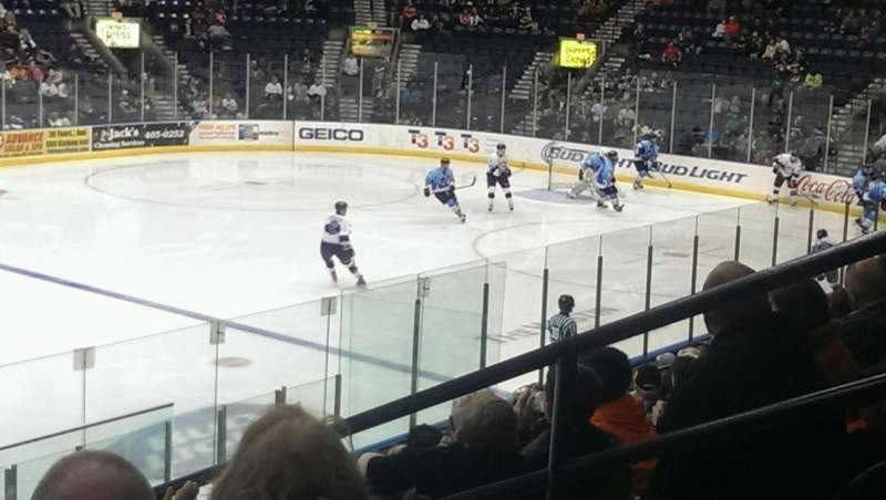 Seating view for Hertz Arena Section 112 Row 12 Seat 4