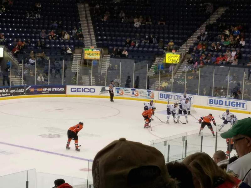 Seating view for Germain Arena Section 112 Row 14 Seat 21