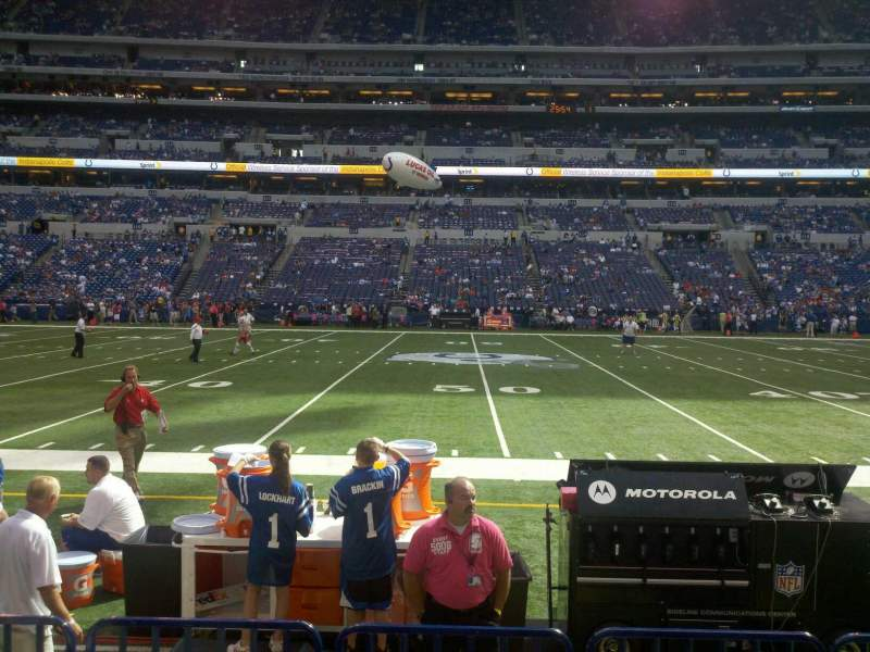 Seating view for Lucas Oil Stadium Section 140 Row 4 Seat 15