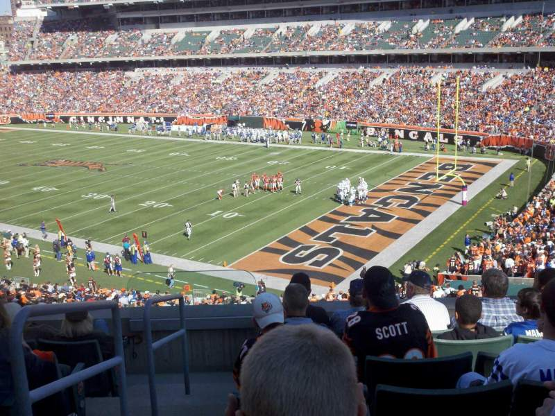 Seating view for Paul Brown Stadium Section 202 Row 7 Seat 15