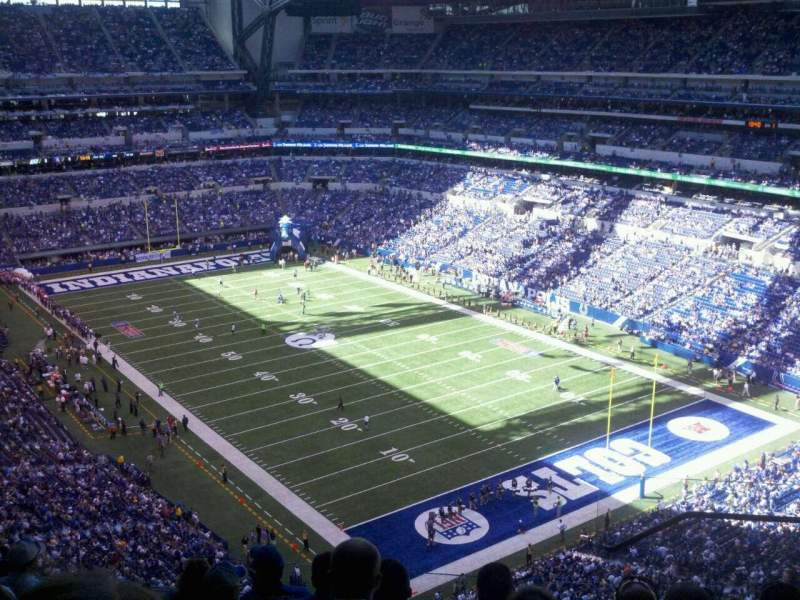 Seating view for Lucas Oil Stadium Section 604 Row 7 Seat 3