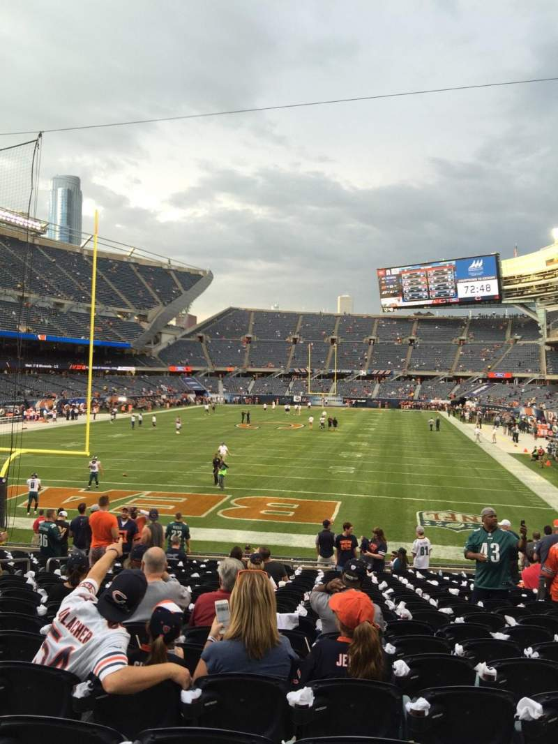 Seating view for Soldier Field Section 121 Row 19 Seat 10