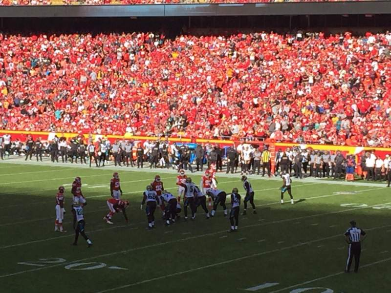 Seating view for Arrowhead Stadium Section 115 Row 24 Seat 1