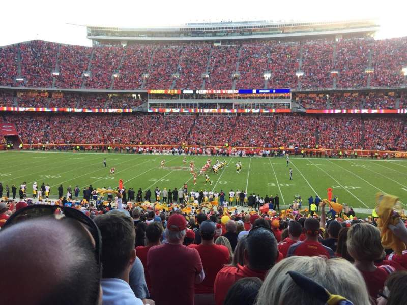 Seating view for Arrowhead Stadium Section 136 Row 34 Seat 14