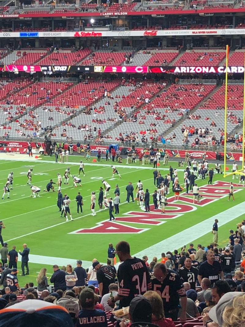 Seating view for State Farm Stadium Section 124 Row 38 Seat 17