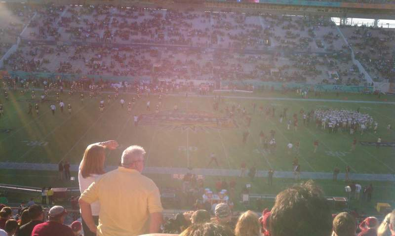 Seating view for Camping World Stadium Section 209 Row Q Seat 17