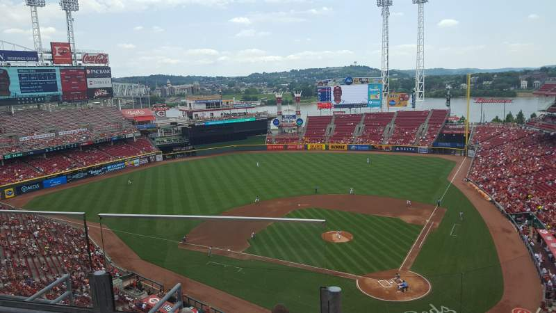 Seating view for Great American Ball Park Section 521 Row B Seat 14