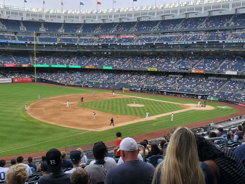 Seating view for Yankee Stadium Section 228 Row 13 Seat 7