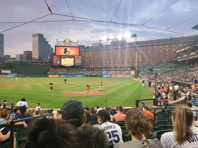 Seating view for Oriole Park at Camden Yards Section 40 Row 14 Seat 7