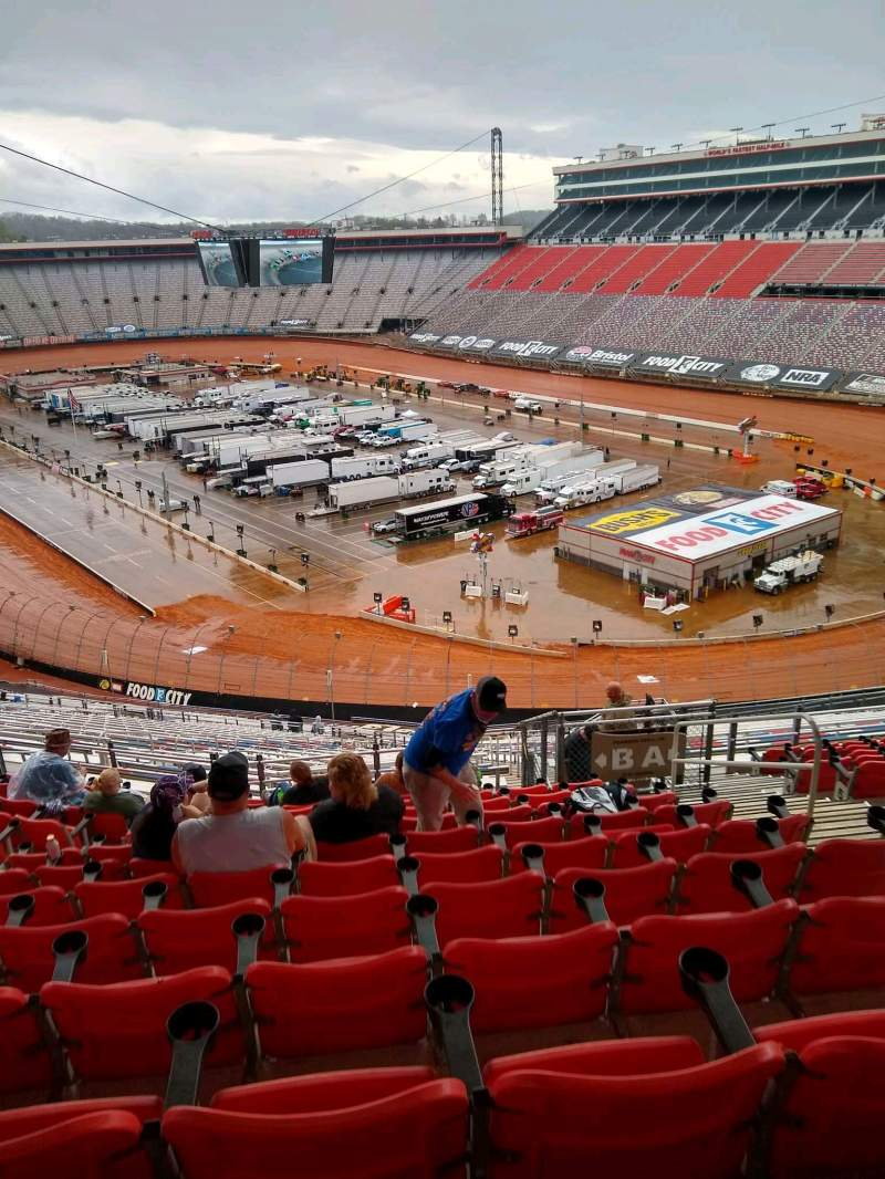 Seating view for Bristol Motor Speedway Section A Row 13 Seat 5