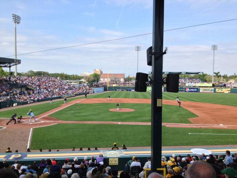 Seating view for McKechnie Field Section IFRS8 Row 14 Seat 17