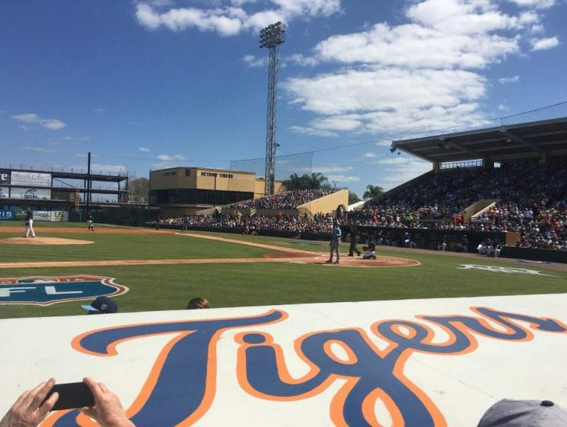 Seating view for Joker Marchant Stadium Section 109 Row GG Seat 20