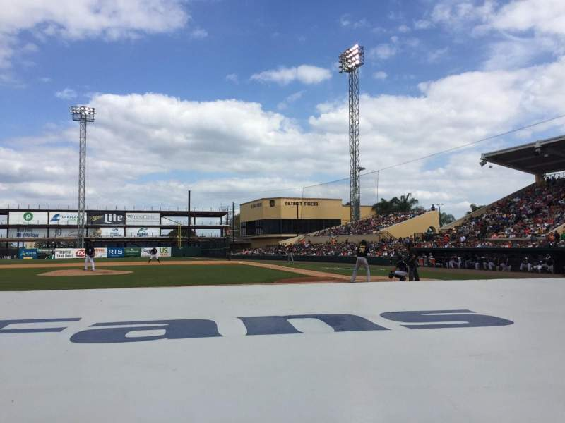 Seating view for Joker Marchant Stadium Section 109 Row FF Seat 10