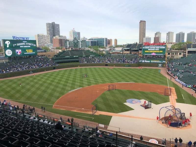 Seating view for Wrigley Field Section 313L Row 10 Seat 2