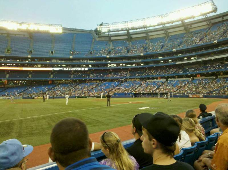 Seating view for Rogers Centre Section 130BR Row 3 Seat 12