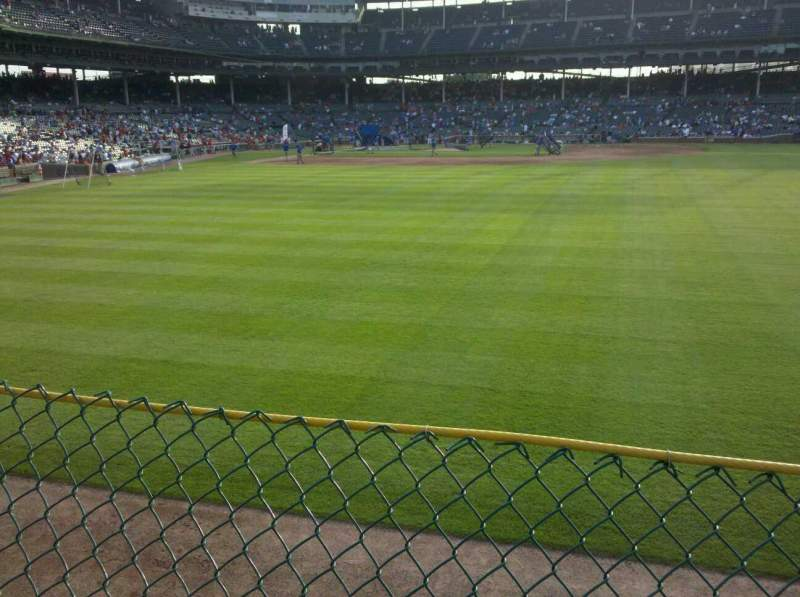 Seating view for Wrigley Field Section Rightfield Bleachers Row 1