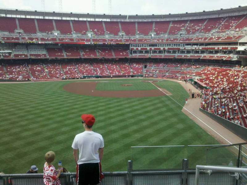 Seating view for Great American Ball Park Section 404 Row k Seat 1