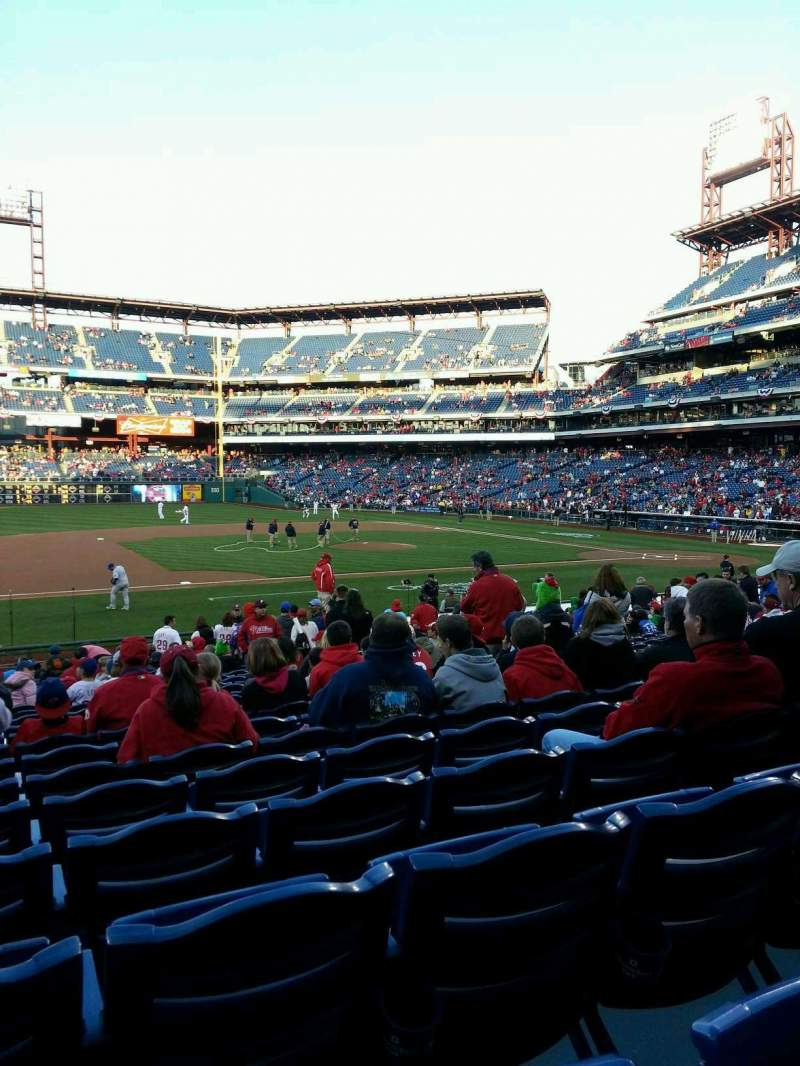 Seating view for Citizens Bank Park Section 133 Row 22 Seat 9
