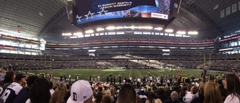 Seating view for AT&T Stadium Section C110 Row 8 Seat 11