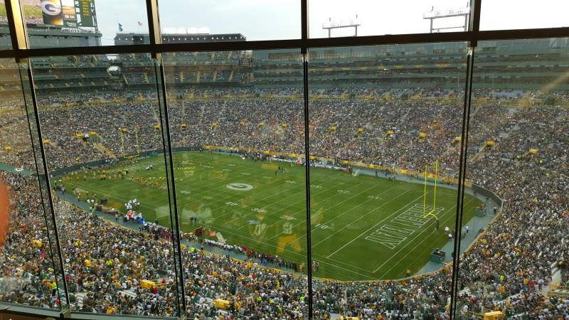 Seating view for Lambeau Field Section 694 Row 5 Seat 10