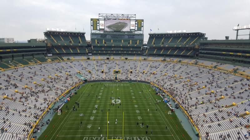 Seating view for Lambeau Field Section Club Level Viewing deck