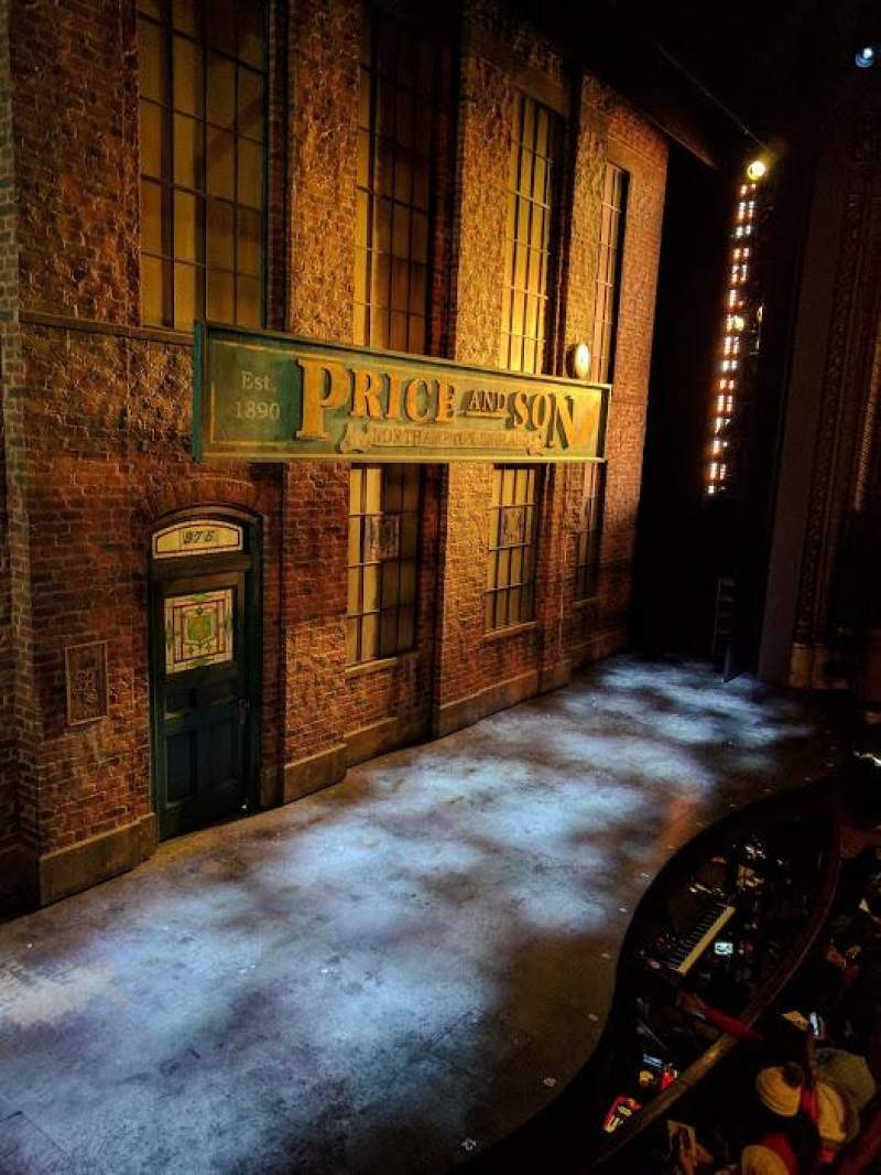 Seating view for Al Hirschfeld Theatre Section LBOX Row B Seat 3