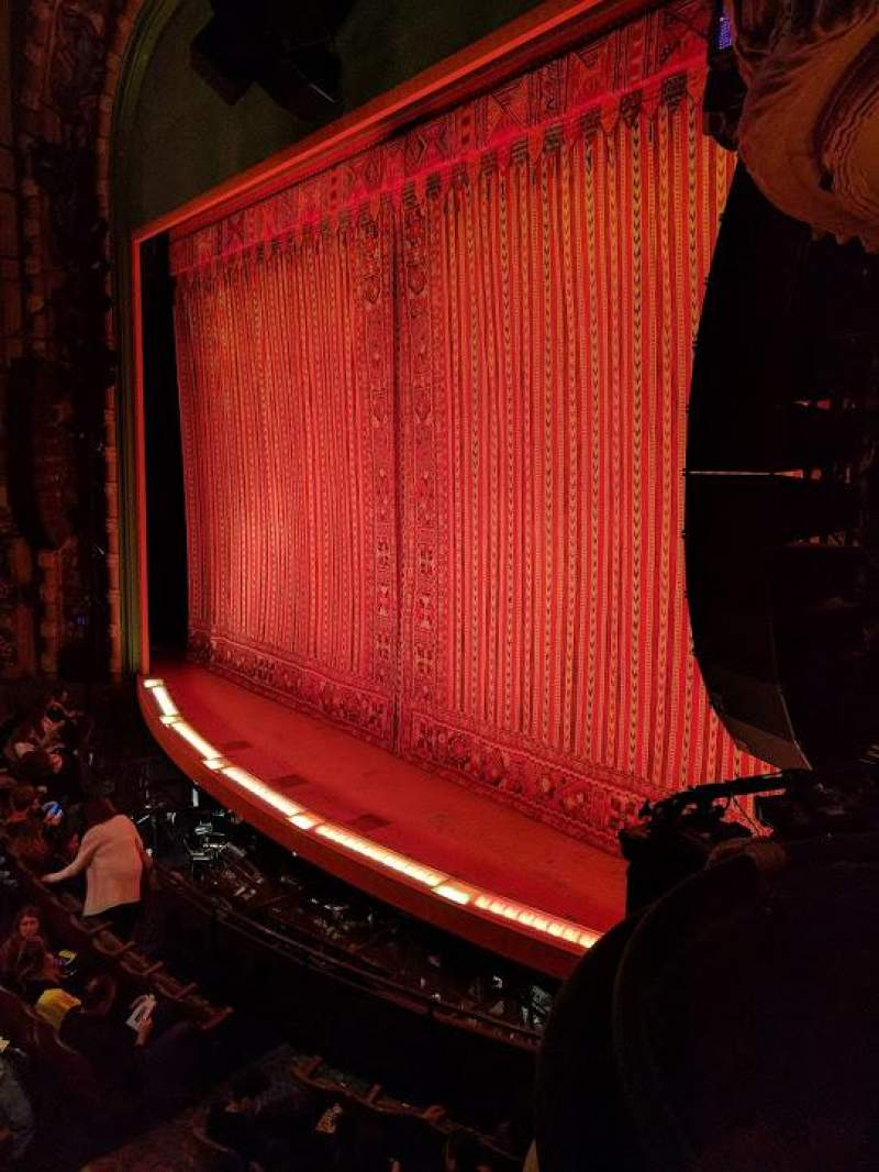 Seating view for New Amsterdam Theatre Section BOX 4 Row A Seat 1