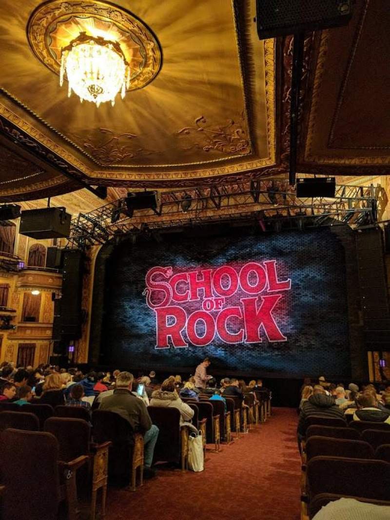 Winter Garden Theatre, section ORCHO, row T, seat 2 - School of Rock ...