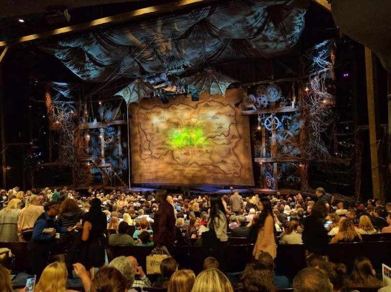 Seating view for Gershwin Theatre Section ORCHST Row U Seat 16