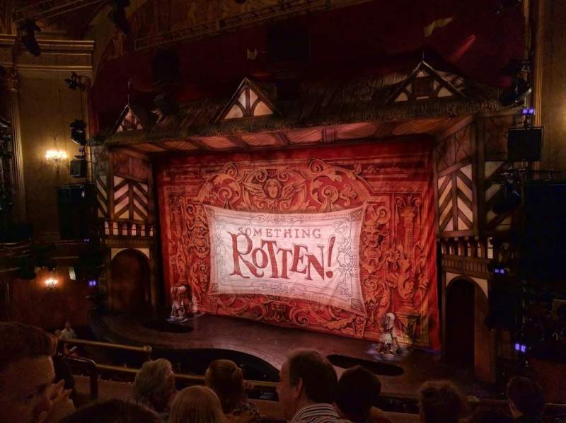 Seating view for St. James Theatre Section MEZZR Row E Seat 14
