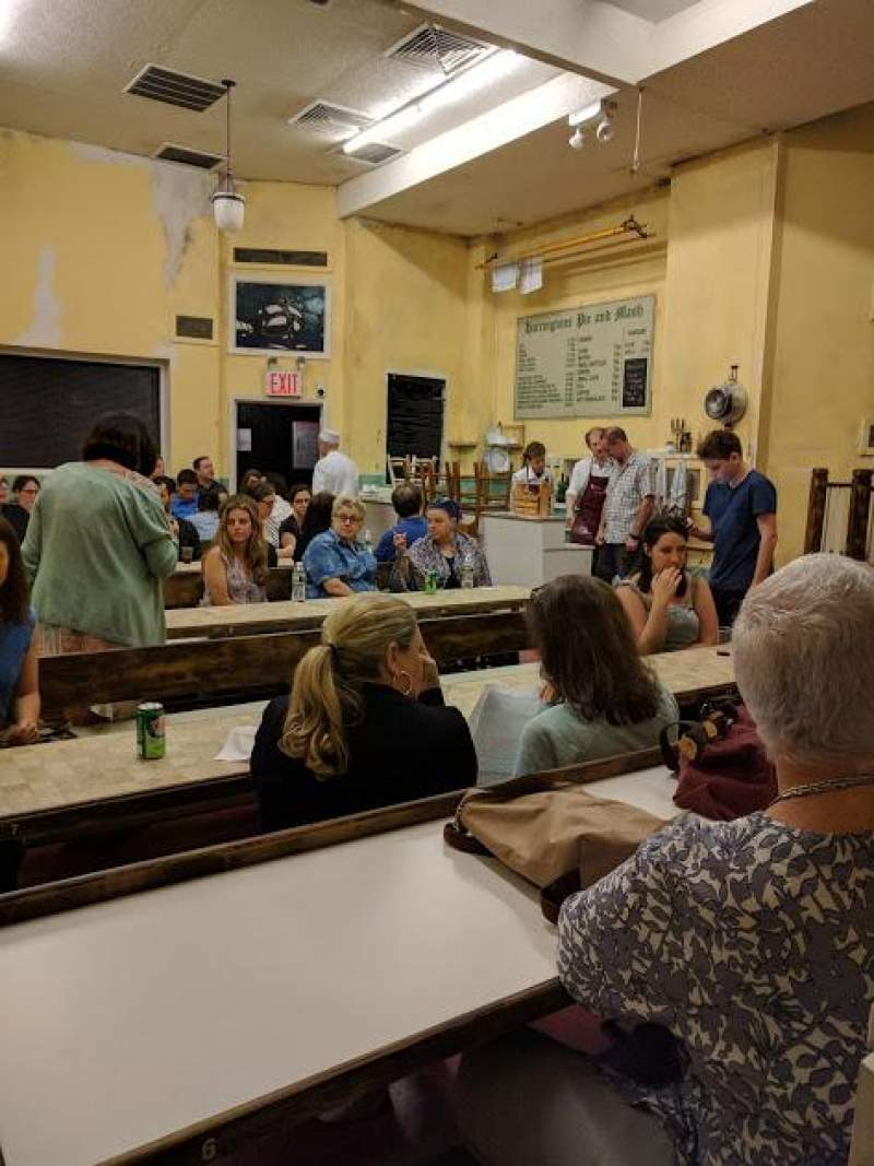 Seating view for Barrow Street Theatre Section Table Row E Seat 5
