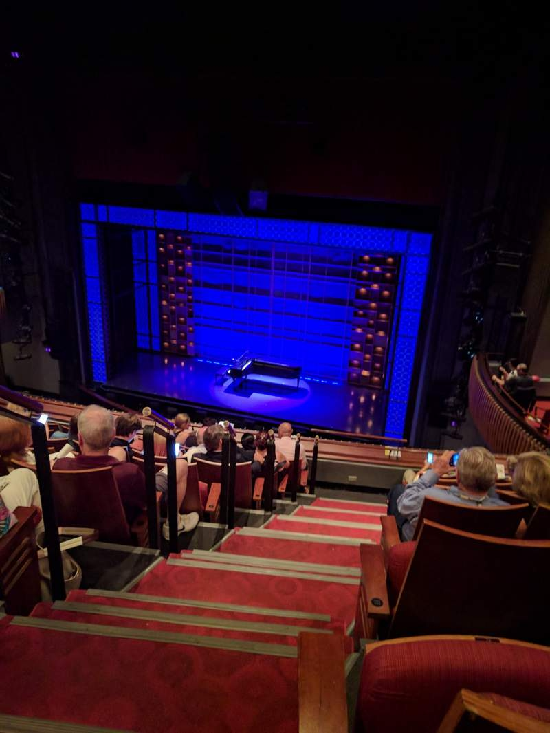 Seating view for Stephen Sondheim Theatre Section Mezzanine Row HH Seat 2
