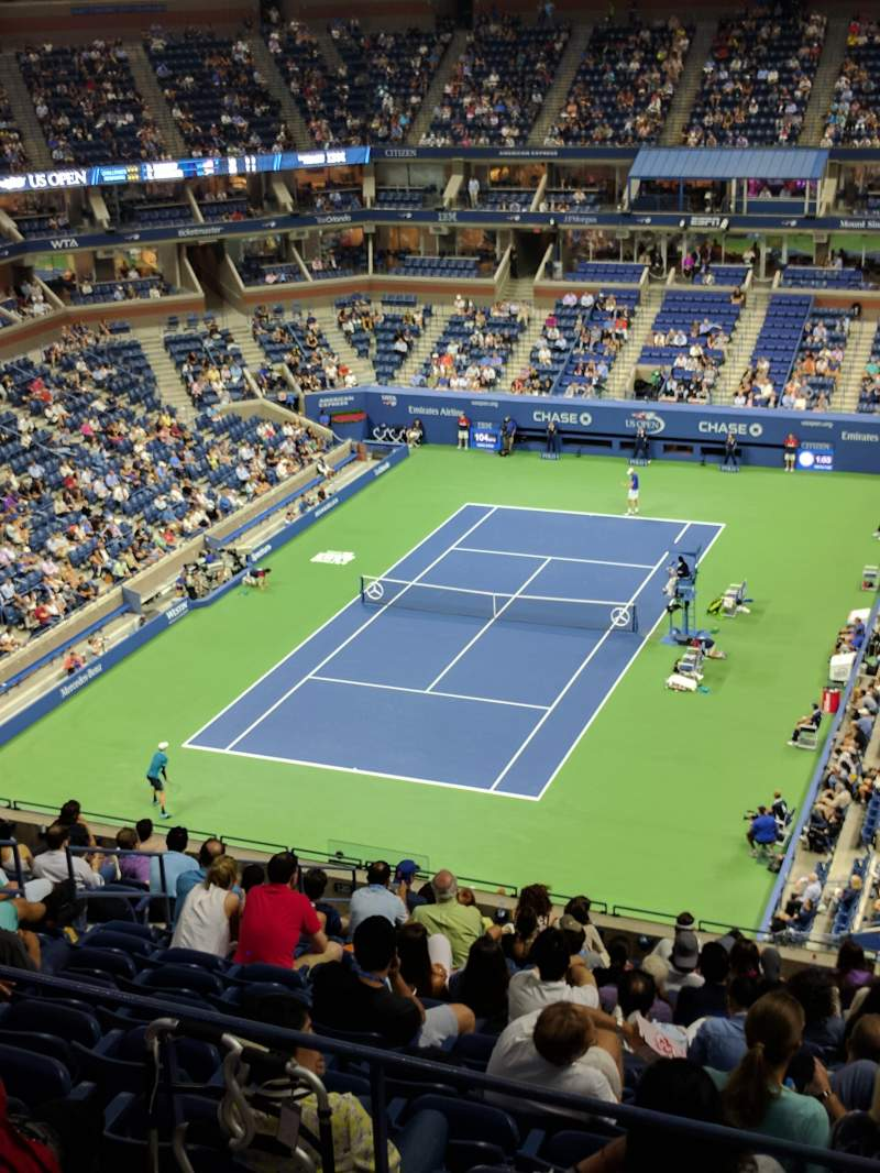 Seating view for Arthur Ashe Stadium Section 322 Row F Seat 31