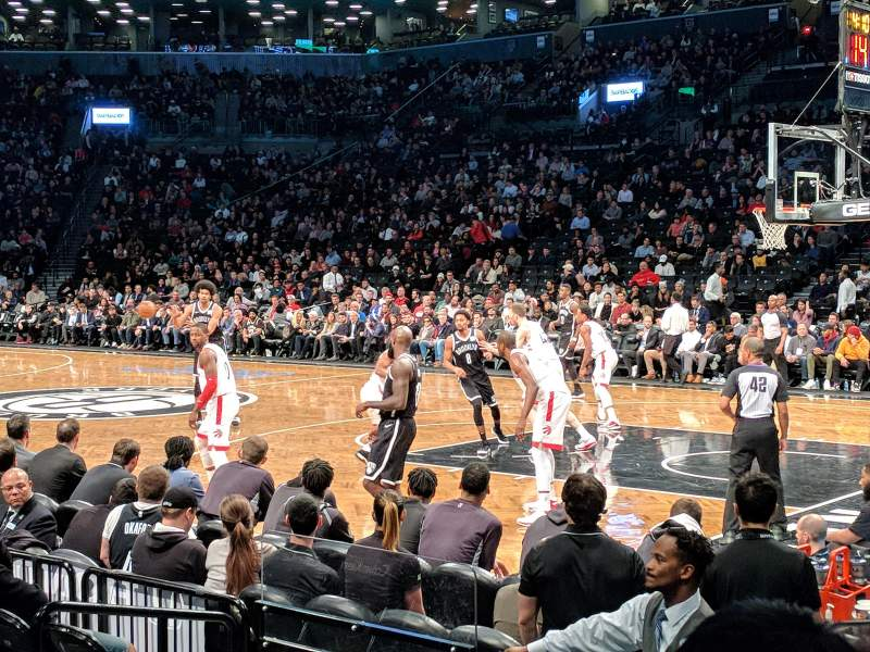 Seating view for Barclays Center Section 4 Row 5 Seat 1