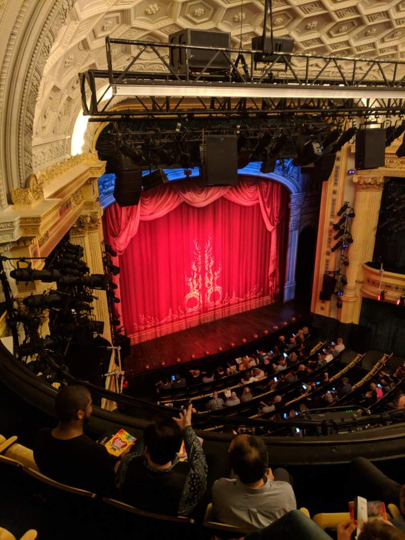 Hudson Theatre, section: Balcony, row: D, seat: 15