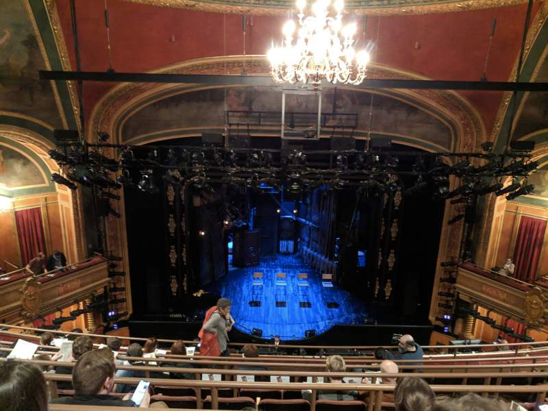 Seating view for American Airlines Theatre Section Rear Mezzanine Row G Seat 118