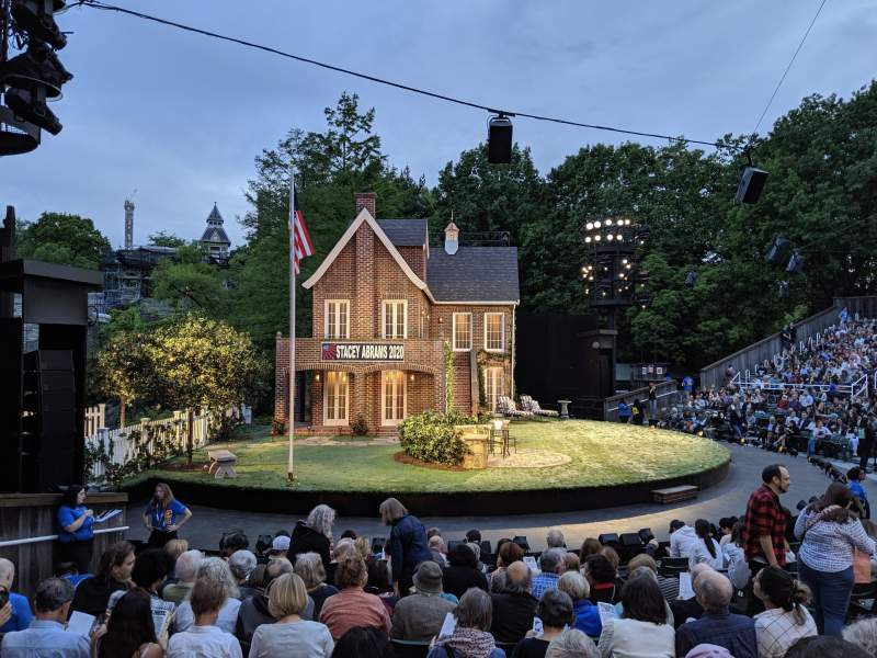 Seating view for The Delacorte Theater in Central Park Section O Row L Seat 507
