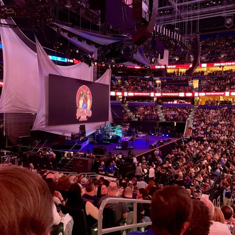 Seating view for Amalie Arena Section 117 Row U Seat 16