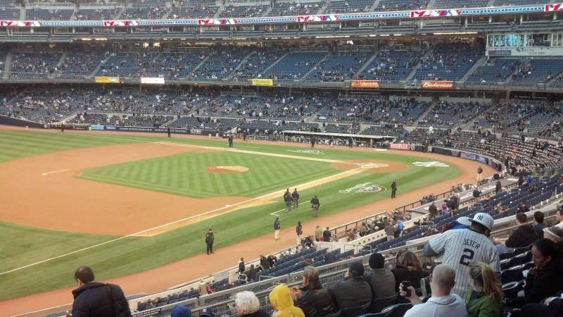 Seating view for Yankee Stadium Section 228 Row 9 Seat 1