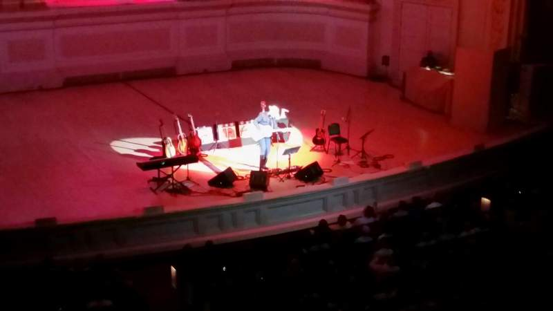 Seating view for Carnegie Hall Section 44 Row 1 Seat 1