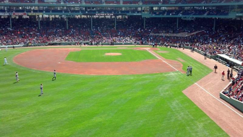 Seating view for Fenway Park Section Green Monster 4 Row 1 Seat 3-4