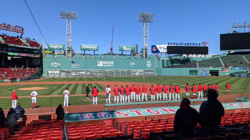 Seating view for Fenway Park Section Loge Box 115 Row BB Seat 1